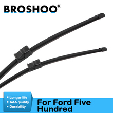 BROSHOO Car Clean The Windshield Wiper Blade Natural Rubber For Ford Five Hundred 2005 2006 2007 Fit Side Pin/Push Button Arms broshoo car windshield wiper blade natural rubber 24