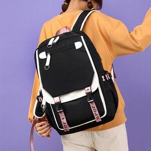 Image 2 - Fengdong kids school backpack for girls korean style black pink cute backpack schoolbag kawaii backpacks for teenage girls gift