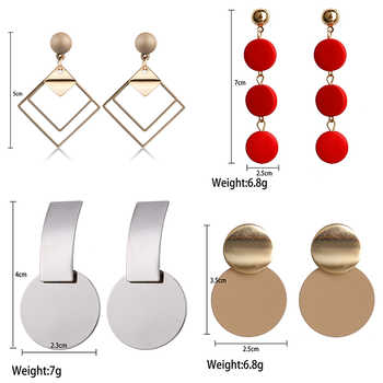 QTWINDY Round Circle Geometric Earrings for Women 2019 Fashion Statement Earrings Punk Metal Earring Acrylic Brincos Jewelry - DISCOUNT ITEM  45% OFF All Category
