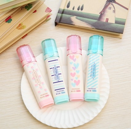 Aihao Cute Kawaii Push Pencil Erasers School Correction Office Supplies Stationery Blue Pink