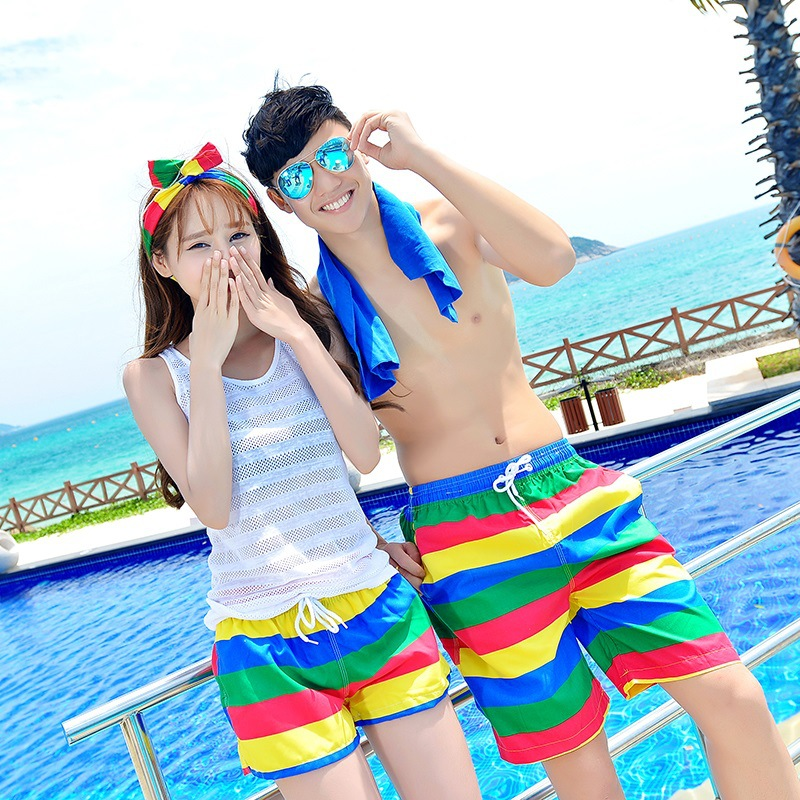 Korean-style Beach Shorts Men's Shorts Couples Beach Pants Spring And Summer Casual Pants Quick Drying Pants Men And Women Swimm