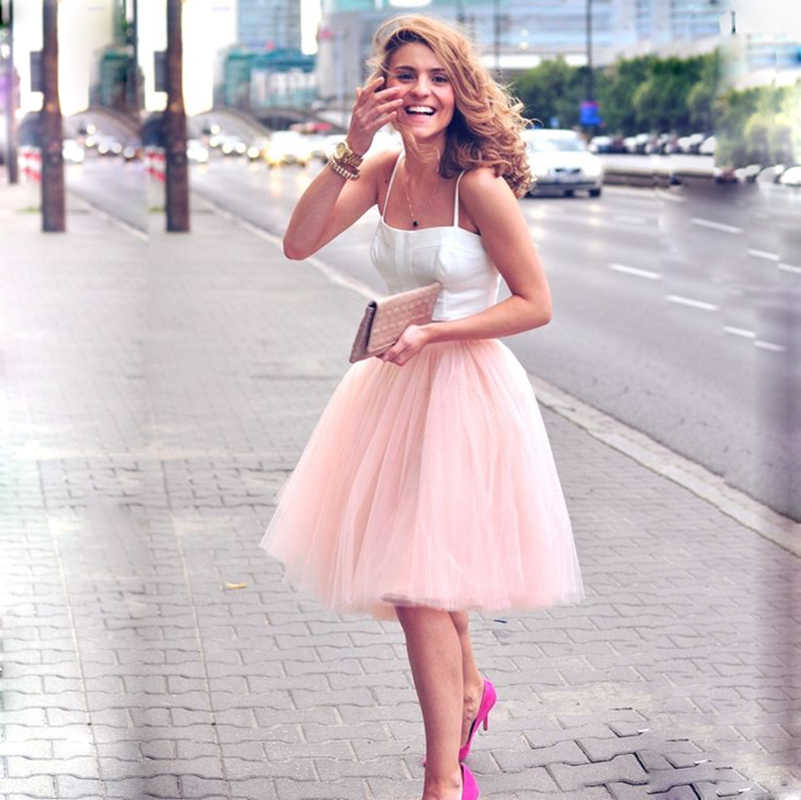 5 Layers 60cm Midi Tulle Skirt Princess Womens Adult Tutu Fashion Clothing  Faldas Saia Femininas Jupe Summer Styleadult tutufashion tulle skirttulle  skirt - AliExpress