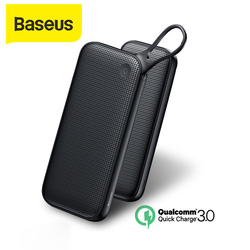 Baseus PD QC3.0 20000mAh Power bank 5V3A szybka ładowarka do iphone'a Samsung 2 usb Power bank typ C ładowarka Powerbank do laptopa w Powerbank od Telefony komórkowe i telekomunikacja na