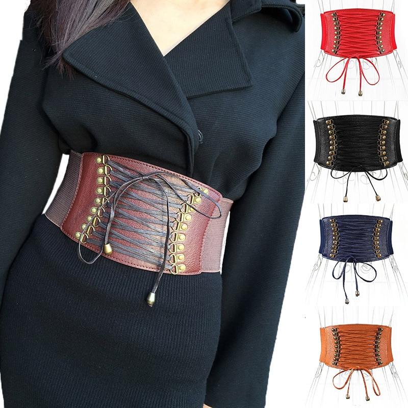 Woman Elastic Belt Sealing Wide Corset Waist Designer Shaping Girdle Wide Belt For Ladie Girls Belt Fashion