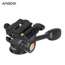 Andoer Q08 видео шаровая Головка для штатива-трипода из 3-ходовая рулевая колонка с пластиной быстрого крепления для камеры для DSLR Камера штатив монопод