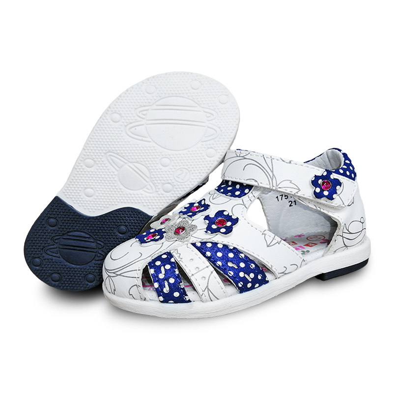 NEW 1pair Summer Girl Genuine Leather Arch Support Orthopedic Children Sandals, Super Quality Kids Summer Shoes