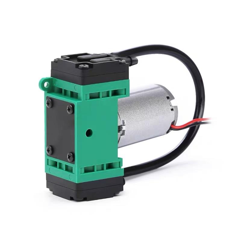 Bomba de vácuo oilless pequena sem escova do uso 5w da beleza 12v-90kpa fluxo 3.8-7.5l/min bomba de equipamento médico