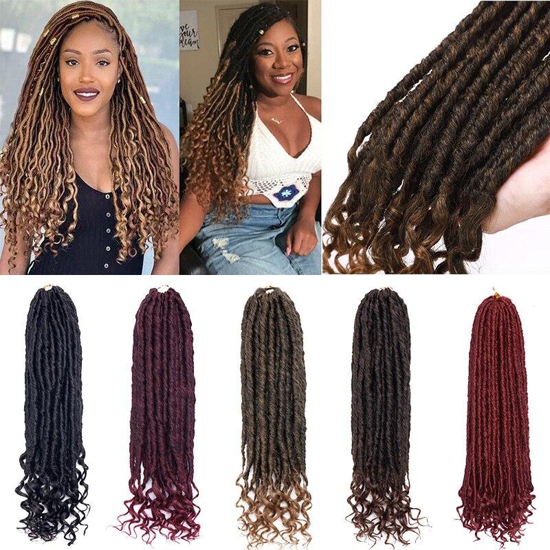 BENEHAIR Goddess Faux Locs Crochet Hair 24 Strands Crochet Braiding Hair Synthetic Hair Extension Fake Hair For Black Women