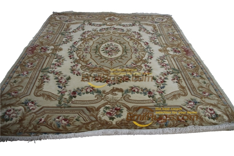 Custom Carpet French Savonnerie Style Hand Knotted Wool Rug Handmade Mandala Home Decoration Carpet Natural Sheep Wool