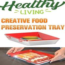 Dropshipping Creative Food Preservation Tray For Kitchen Storage Container Set Fresh