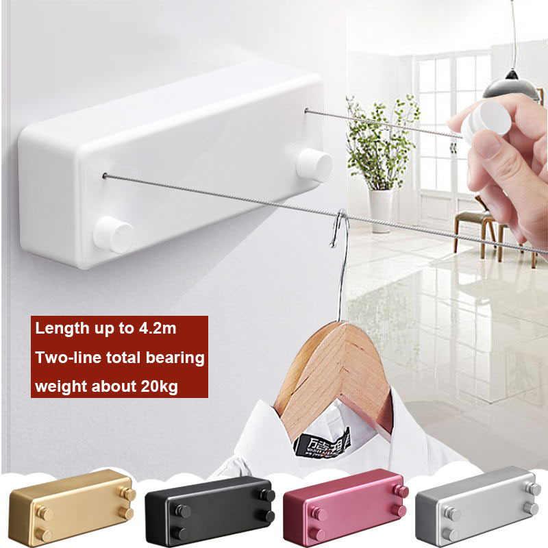Sechoir A Linge Retractable Corde Suspendue Etendoir A Linge Poinconnage Gratuit Invisible Balcon Toilette Seche Linge Exterieur Cintre Aliexpress