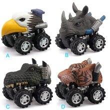 1PC Children Gift Toy super cool Animla Model Mini Plastic Car Pull  Back 100% brand new L0904