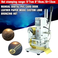 New Heat press Machine Manual Digital Hot Foil Stamping Machine PVC Card Leather Hot Foil Stamping Embossing Bronzing Embossers