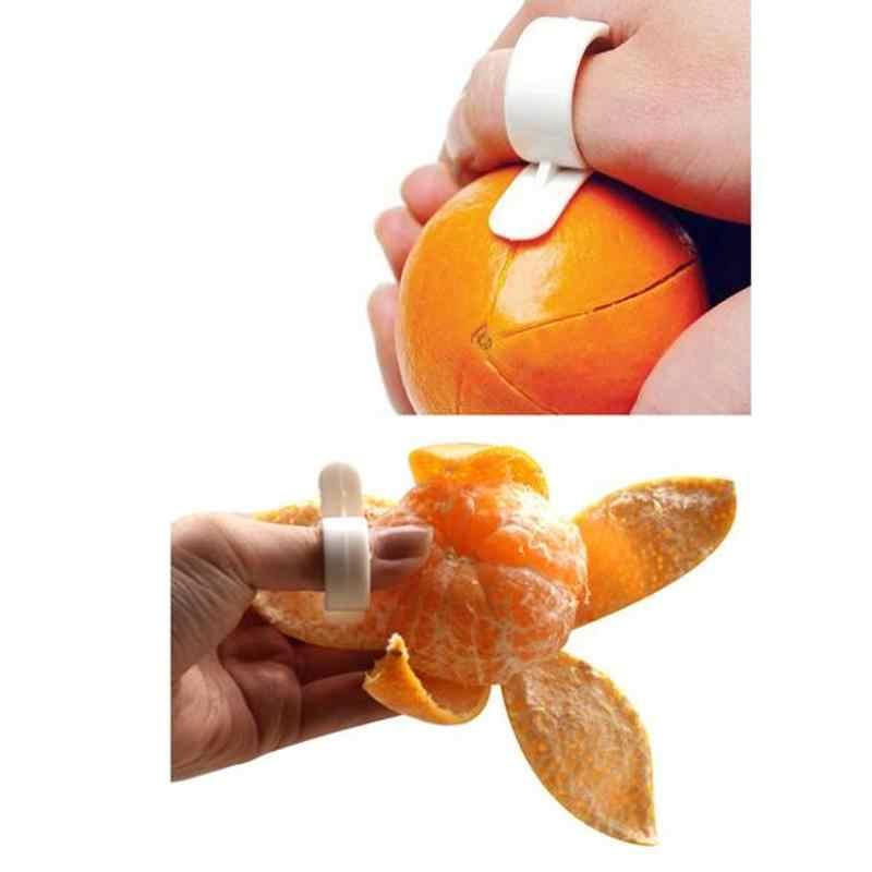 オレンジピーラーリムーバーレモン柑橘類剥離スライサーカッターオープナーフルーツ皮すぐに剥離キッチンツールドロップシッピング