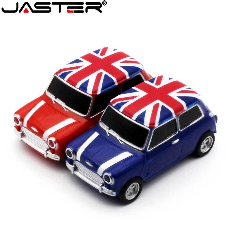 JASTER Free Delivery Mini Car Model Pendrive 4GB 8GB 16GB 32GB 64GB USB 2.0 USB Flash Drive Memory Stick Pen Drive Gift U Disk