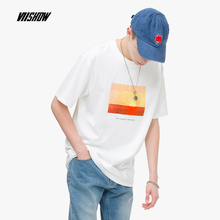 VIISHOW 2019 summer new short-sleeved T-shirt male tide brand mens casual short T cool and breathable student TD2059192