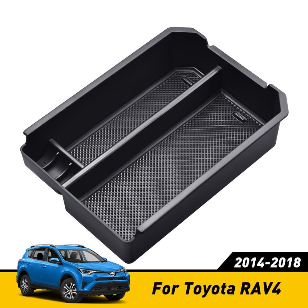 Центральная консоль ХРАНЕНИЯ поддон подлокотник контейнер коробка для Toyota RAV4 2014 2015 2016 2017 2018 аксессуары бардачок лоток держатель