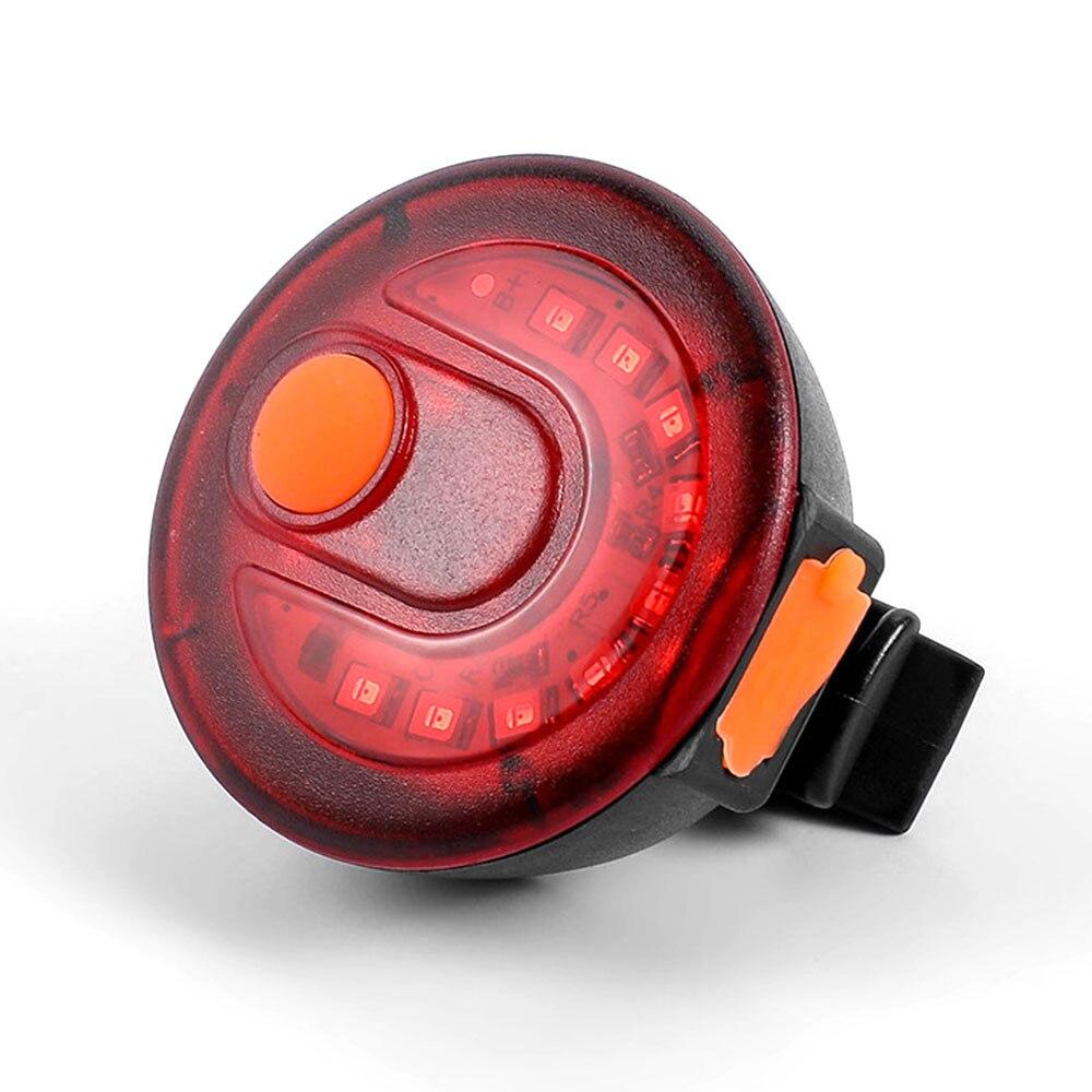 Велосипедный предупреждающий световой сигнал Велоспорт светодиодный задний велосипедный USB велосипедный фонарь Водонепроницаемый прочная Аккумуляторная ABS красный 150 люмен собрать