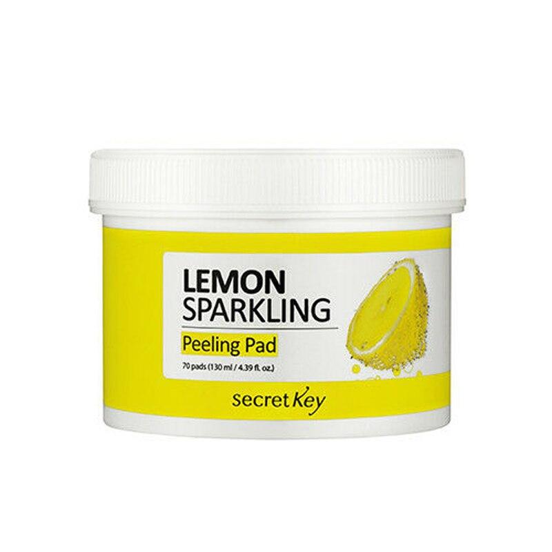SECRET KEY Lemon Sparkling Peeling Pad 70pcs Face Skin Exfoliator Pimple Blackhead Removal Facial Exfoliating Korea Cosmetics