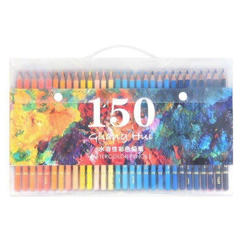 Crayon de couleur 150 crayon de couleur Soluble dans l'eau crayon de couleur Soluble dans l'eau pour les fournitures scolaires d'art