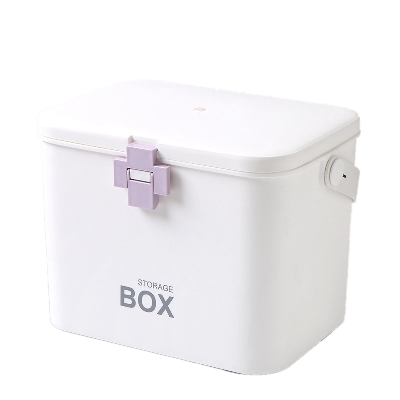 First Aid Kit Medicine Box Storage Box Plastic Container Emergency Kit Portable Multi-Layer Large Capacity Storage Organizer