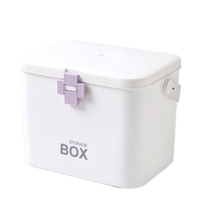 First Aid Kit Medicine Box Storage Box Plastic Container Emergency Kit Portable Multi-Layer Large Capacity Storage Organizer