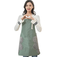 Home cloth art wipeable waterproof apron kitchen oil-proof overalls Oxford and home Waterproof