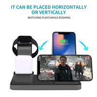Trending products 2019 new arrivals 3 in 1 Wireless Charging Stand for smart Watch Qi Fast Wireless Charging Station for smart|Mobile Phone Chargers| |  -