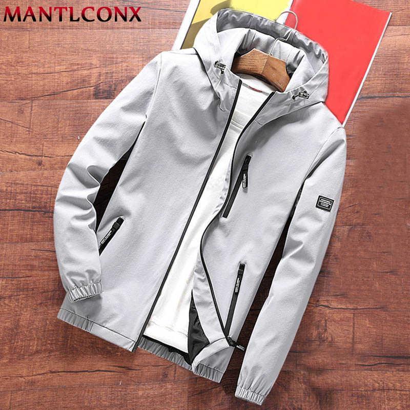 MANTLCONXใหม่Mens Hooded Windbreakerแจ็คเก็ตฤดูใบไม้ผลิฤดูใบไม้ร่วง 2020 สบายๆHoodieเสื้อแจ็คเก็ตStreetwearแฟชั่นชายOutwearยี่ห้อ