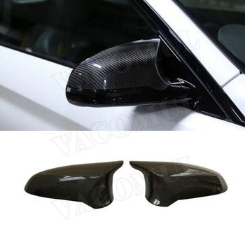 Сухая крышка зеркала заднего вида из углеродного волокна для BMW F80 M3 F82 M4 2015-2018 сменная стильная боковая зеркальная крышка LHD