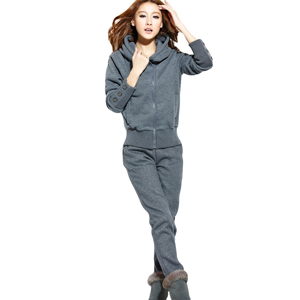 Tracksuit Women Two Piece Set Sport Long Sleeve Split Hoodie Set Long Pants Casual Outfit Sportswear Wholesale Free Ship Z4