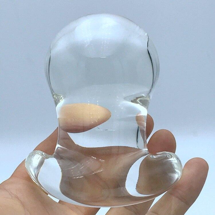 60 мм большая Хрустальная Анальная игрушка, анальные шарики, расширитель, Анальная пробка, стеклянный фаллоимитатор, стеклянный расширитель...