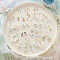 Женские Висячие серьги с белым жемчугом в форме ракушки, корейские милые элегантные длинные серьги с цветами, украшения 30 стилей, лето 2020
