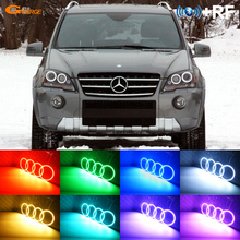For Mercedes-Benz M-Class W164 2005-2011 Excellent Angel Eyes kit Multi-Color Ultrabright RGB LED Angel Eyes Halo Rings