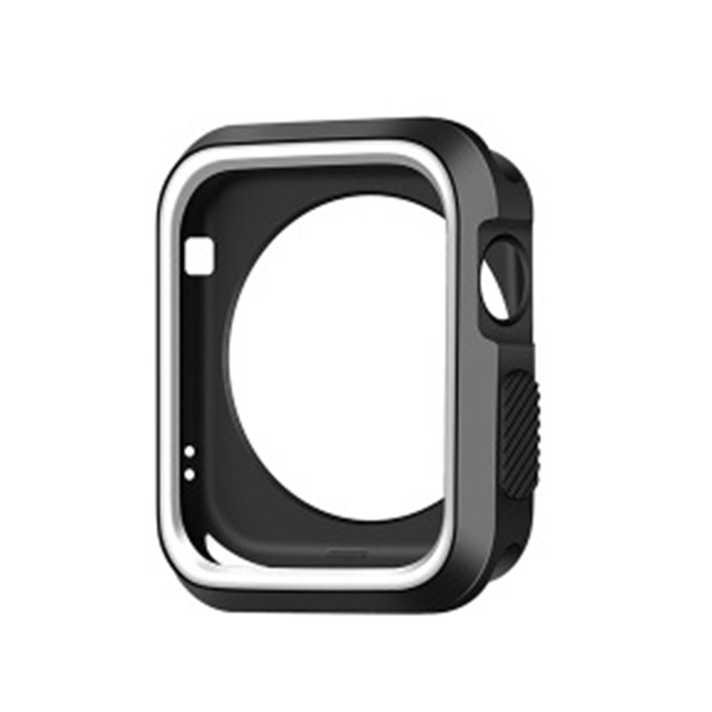 Watch Accessories Protective Cases Cover for Apple Watch TPU Silicone Soft Protect Shell Case for apple watch two-color cover