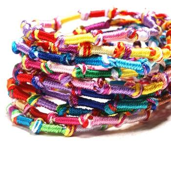 10pc Colorful Woven Braided Friendship Bracelet Handmade Brazilian String Cotton Cord Hippie Surf Men Women Jewelry Gift 2
