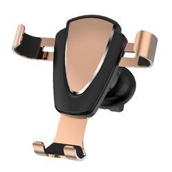 Mocowanie telefonu w samochodzie obrót o 360 stopni metalowy uchwyt na deskę rozdzielczą wytrzymały telefon komórkowy stojak samochodowy złoty w Uchwyty samochodowe od Samochody i motocykle na