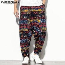 Pantalones Harem-Pants Drop-Crotch-Trousers Baggy Joggers Elastic-Waist Streetwear INCERUN