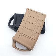 Coldre de borracha caça tático saco de borracha 5.56 mag saco água caixa caça brinquedo saco munição para m4/m16