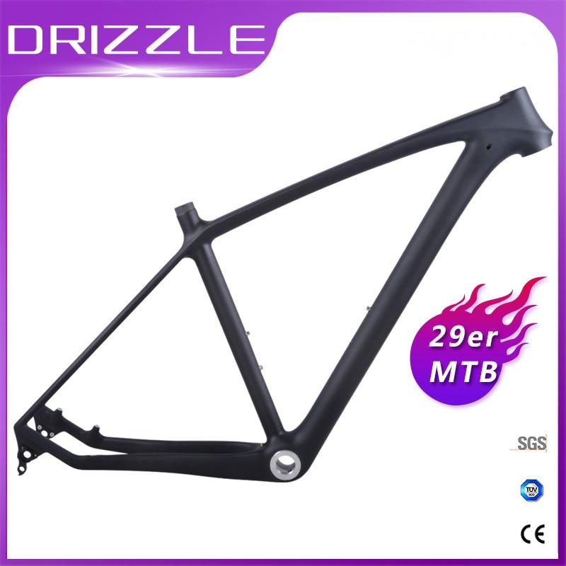 New Carbon Mtb Frame 29er Mtb Carbon Frame 29 142*12 Or135*9mm Carbon Mountain Bike Frame Bicycle Frame Factory Direct Sales