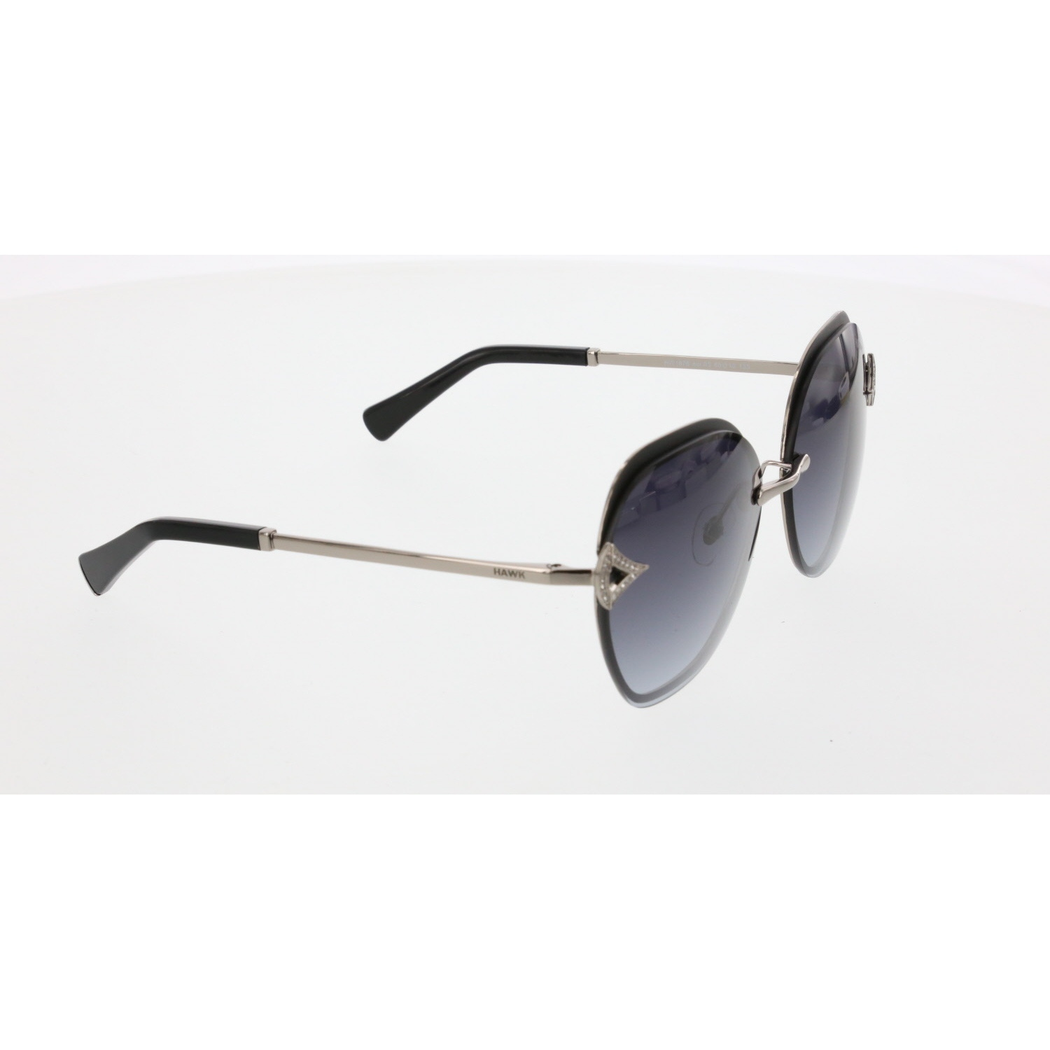 Women's sunglasses hw 1876 03 metal silver organic aval 60-15-135 hawk