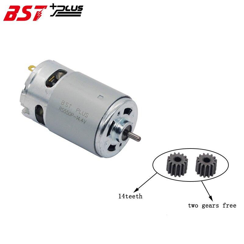 RS550 Motor (14 DENTES DA ENGRENAGEM) 20000RPM 7.2 V/9.6 V/10.8 V/12 V/14 V/14.4 v/ 16.8 V/18 V/21 V/24 V Para BOSCH MAKITA HITACHI FURADEIRA sem fio