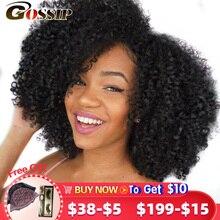 Tissage en lot Afro brésilien 100% naturel Remy, mèches de cheveux crépus bouclés, mèches de cheveux 8 28 pouces