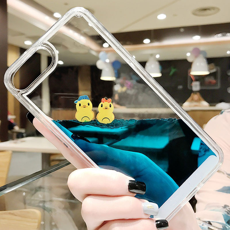 Hb06e2d106fb14a0ebbe8401353fd6d0cI - Luxury Cartoon 3D Swimming Duck for iPhoneXS Animal Dynamic Liquid Quicksand Cover For iPhone 5 5S 5SE 6 6S 7 8 Plus Phone Cases