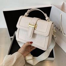 Petit fourre-tout à motif Crocodile pour femmes, en cuir PU de bonne qualité, sac à main de styliste pour voyage, sacoche à bandoulière, nouvelle collection 2021