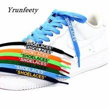 2021 nouveau Imprimé Signé Lacet OW Lacets Noir Blanc Orange Vert Violet Hors Lacets pour Les Dix Blanc Chaussures Plates En Dentelle