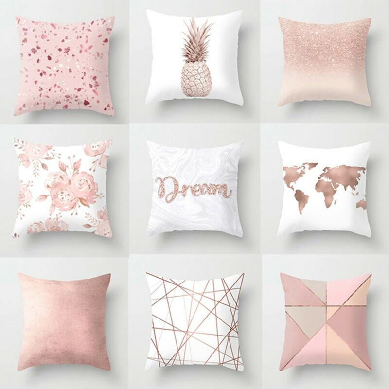 Modern 100% Art Pattern Cotton Nordic Style Linen Sofa Cushion Cover Green Grass Tropical Plant Throw Pillow Case Cushion 40x40