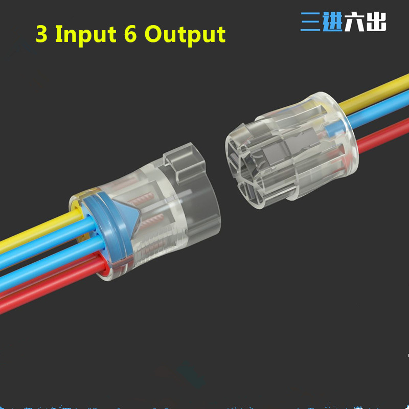 1/2/3PCS SPL42 Spl-724/736 Quick Splitter Plug-in Electric Multiple Wire Connector Universal Compact Wiring Connectors Terminal