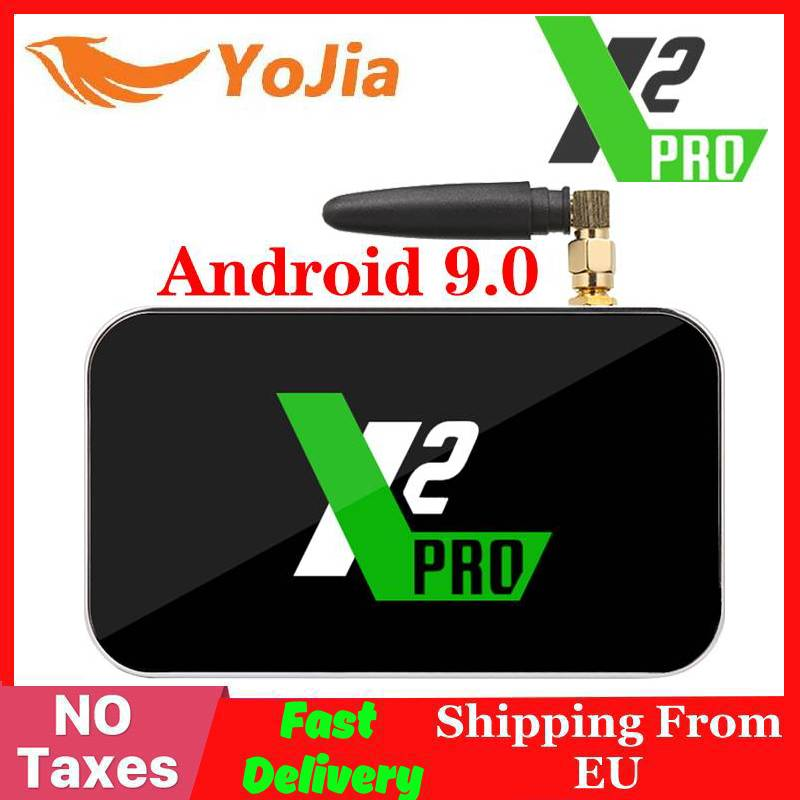X2 Pro TV Box Android 9.0 4K Smart Media Player X2 CUBE 2G 16G Amlogic S905X2 2.4/5GHz WiFi 1000M Bluetooth 4GB 32GB Set Top Box