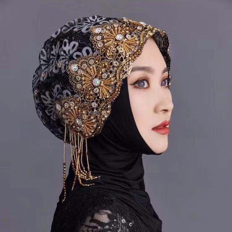 2019 Fashion Diamonds Shawls Tassel Muslim Women Instant Hijab